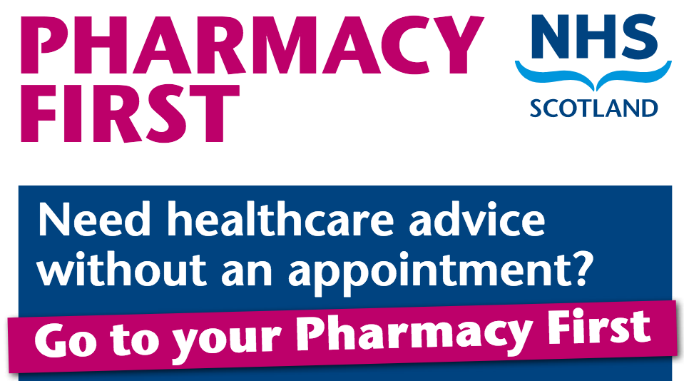 Need healthcare advice without an appointment? Go to your Pharmacy First